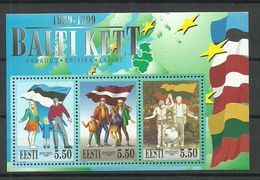 Estland Estonia Estonie 1999 Block Michel 13 Baltischer Weg MNH - Estland