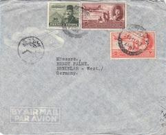 EGYPTE 1951? - 3 Fach Frankierung Auf LP-Brief Gel.n. Bredelar West-Germany - Ägypten