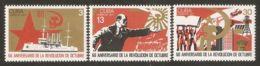 1977 Mi# 2254-2256 ** MNH - October Revolution, Russia, 60th Anniv. - Cuba