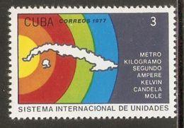 1977 Mi# 2268 ** MNH - Intl. Measurement System - Nuevos