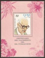 1977 Mi# Block 51 ** MNH - Dr. Juan Tomas Roig, Botanist / Flowers - Unused Stamps