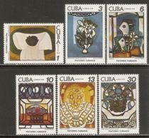1978 Mi# 2337-2342 ** MNH - Paintings By Amelia Pelaez Del Casal - Unused Stamps