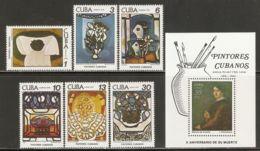 1978 Mi# 2337-2342, Block 56 ** MNH - Paintings By Amelia Pelaez Del Casal - Unused Stamps
