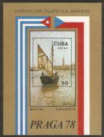 1978 Mi# Block 55 ** MNH - Marina, By A. Brandeis / PRAGA '78 - Unused Stamps