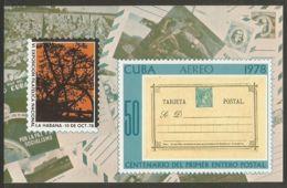 1978 Mi# Block 57 ** MNH - EXFILNA '78, 6th Natl. Philatelic Exposition / 1st Postal Card - Unused Stamps