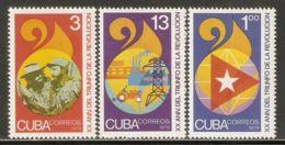 1979 Mi# 2363-2365 ** MNH - Triumph Of The Revolution, 20th Anniv. - Unused Stamps
