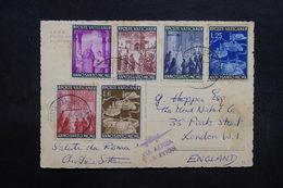 VATICAN - Affranchissement Plaisant Sur Carte Postale En 1950 Pour Londres Par Avion - L 32718 - Lettres & Documents