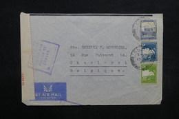 PALESTINE - Enveloppe De Tel Aviv Pour La Belgique En 1940 Avec Contrôle Postal - L 32719 - Palestine