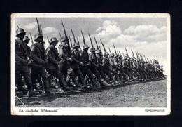2569-GERMAN EMPIRE-MILITARY PROPAGANDA POSTCARD GERMAN Marching SOLDIERS.WWII.DEUTSCHES REICH.POSTKARTE.carte Postal - 1939-45