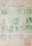 O) 1955 CUBA - CARIBBEAN , SPANISH ANTILLES,VIÑETAS CONMEMORATIVAS VI PHILATELIC AND NUMISMATIC EXHIBITION -FIRST EXHI - FDC