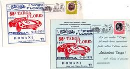 ITALIA  58^ Targa Florio   Lotto Di 2 Pezzi   Busta + Cartolina Con Annulli - Palermo