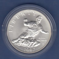USA 1997 1$ Silber-Gedenkmünze Baseball Jackie Robinson MS / Stg - Ohne Zuordnung