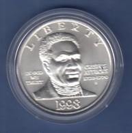 USA 1998 1$ Silber-Gedenkmünze Black Patriots Memorial Crispus Attucks MS / Stgl - Ohne Zuordnung
