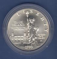 USA 1991 1$ Silber-Gedenkmünze New York Freiheitsstatue Ellis Island  MS / Stgl - Ohne Zuordnung