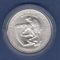 USA 1997 1$ Silber-Gedenkmünze Law Enforcement Officers Memorial MS / Stg - Ohne Zuordnung