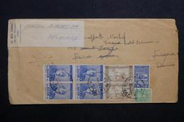 SYRIE - Enveloppe De Damas Pour Hôtel à Paris ( étiquette) Et Redirigé Vers Bruxelles - L 32724 - Syrie