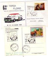 ITALIA  63^ Targa Florio   Lotto Di 2 Pezzi   Busta + Cartolina Con Annulli - Palermo