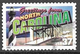 2002 37 Cents State Greetings, North Carolina, Used - United States