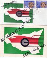 ITALIA  55^ Targa Florio   Lotto Di 2 Pezzi   Busta + Cartolina Con Annulli - Palermo