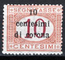 Trento E Trieste 1919 Segnatasse Sass.2 */MH VF/F - 8. WW I Occupation