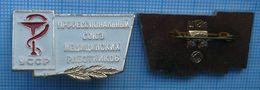 USSR / Badge  Soviet Union UKRAINE Medicine. Trade Union Of Medical Workers. - Medical