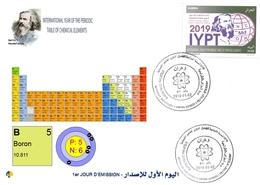 DZ Algeria 1836 2019 Anno Internazionale Della Tavola Periodica Degli Elementi Chimici Dmitry Mendeleev Chimica Boro - Chimica