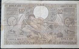 Belgium - 100 Francs - 20 Belgas 01.08.1938 - [ 2] 1831-... : Regno Del Belgio