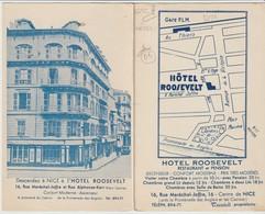 C. P.DOUBLE - PUBLICITÉ - NICE - HOTEL ROOSEVELT- RESTAURANT - PLAN - TAZZIOLI PROPRIETAIRE - - Publicidad