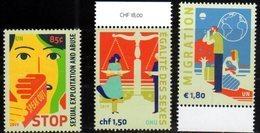 UN , 2019, MNH, DEFINITIVES, STOP SEXUAL EXPLOITATION, MIGRATION, GENDER EQUALITY,3v - Stamps