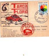ITALIA  62^ Targa Florio    Cartolina   Rally Int. Di Sicilia Del23 - 3 - 1978 - Palermo