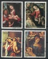 NAVIDAD XMAS CHRISTMAS NOEL, VIRGEN CON EL NIÑO JESUS. PARAGUAY 1987 YVERT 1065 / 1068 COMPLETE SERIE OBLITERES -LILHU - Arte