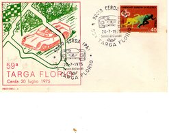 ITALIA  59^ Targa Florio   Busta  Del 20 - 7 - 1975 - Palermo
