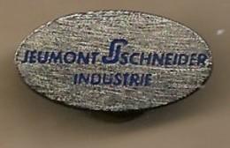 Pin's Jeumont Schneider Industrie Siège Social à Puteaux (92) 1 Place Coupole Ateliers Champagne-sur-Seine (77) - Städte