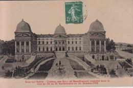 HAUTE SAÔNE - SCEY Sur SAONE - Château Des Ducs De Beauffremont ... ( - Carte Glacée -Timbre à Date De 1908 ) - Frankreich