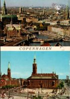 Denmark Copenhagen Town Hall Square And Panoramic View 1974 - Denmark