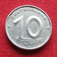 Germany 10 Pfennig 1952 KM# 7  German-Democratic Republic  Alemanha Oriental DDR RDA Alemania Allemagne - [ 6] 1949-1990: DDR - Duitse Dem. Rep.