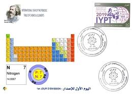 DZ Algeria 1836 2019 Anno Internazionale Della Tavola Periodica Degli Elementi Chimici Dmitry Mendeleev Chimica Azoto - Chimica