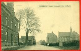 Herbesthal (Lontzen) - Herbestal: Maison Communale Et Rue De L'Eglise - Lontzen