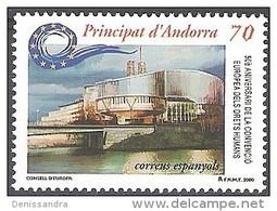 Andorra Español 2000 Yvert 266 Neuf  * Cote (2015) 1.80 Euro Strasbourg Batiment De Conseil De L'Europe - Andorre Espagnol