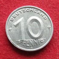 Germany 10 Pfennig 1949 KM# 3  German-Democratic Republic  Alemanha Oriental DDR RDA Alemania Allemagne - [ 6] 1949-1990: DDR - Duitse Dem. Rep.
