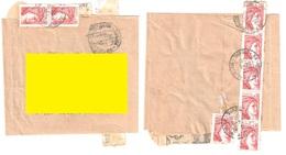ARLEUF Du MORVAN Nièvre Bande De Journal Tf 1/6/1980 80 C 8 Timbres 10c Sabine Yv 1965 - 1977-81 Sabine Of Gandon