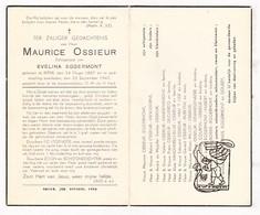 DP Maurice Ossieur ° Ieper 1887 † 1947 X Evelina Eggermont / Vandoorne Van 't Hof Buseyne Millot Raes Bories Courtin - Devotion Images