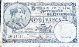 Belgium 5 Francs 1938 - [ 2] 1831-... : Regno Del Belgio