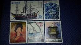 JAPON 2003 3411 3416 Navire Vapeur, Assiettependule Bateau   PHOTO NON CONTRACTUELLE - 1989-... Emperor Akihito (Heisei Era)