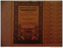 """""""SOBEDISE""""Société Belge Pour L'entretien De Réseaux De Distribution D'eau, 1939 - Eau"""
