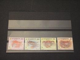 SINGAPORE - 1992 CRANCHI 4 VALORI - NUOVI(++) - Singapore (1959-...)
