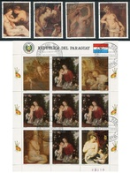 RUBENS, 350 AÑOS DE SU FALLECIMIENTO PEINTURE PAINTING. PARAGUAY 1989 YVERT 1147 / 1151 COMPLETE SERIE OBLITERES - LILHU - Paraguay
