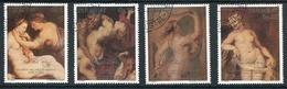 RUBENS, 350 AÑOS DE SU FALLECIMIENTO PEINTURE PAINTING. PARAGUAY 1989 YVERT 1147 / 1150 COMPLETE SERIE OBLITERES - LILHU - Desnudos