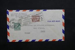 PHILIPPINES - Enveloppe De La Légation De France Pour Paris, Affranchissement Plaisant - L 32730 - Philippines