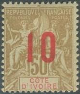 Côte D'Ivoire 1892-1912 - N° 39 (YT) N° 39 (AM) Neuf *. - Côte-d'Ivoire (1892-1944)
